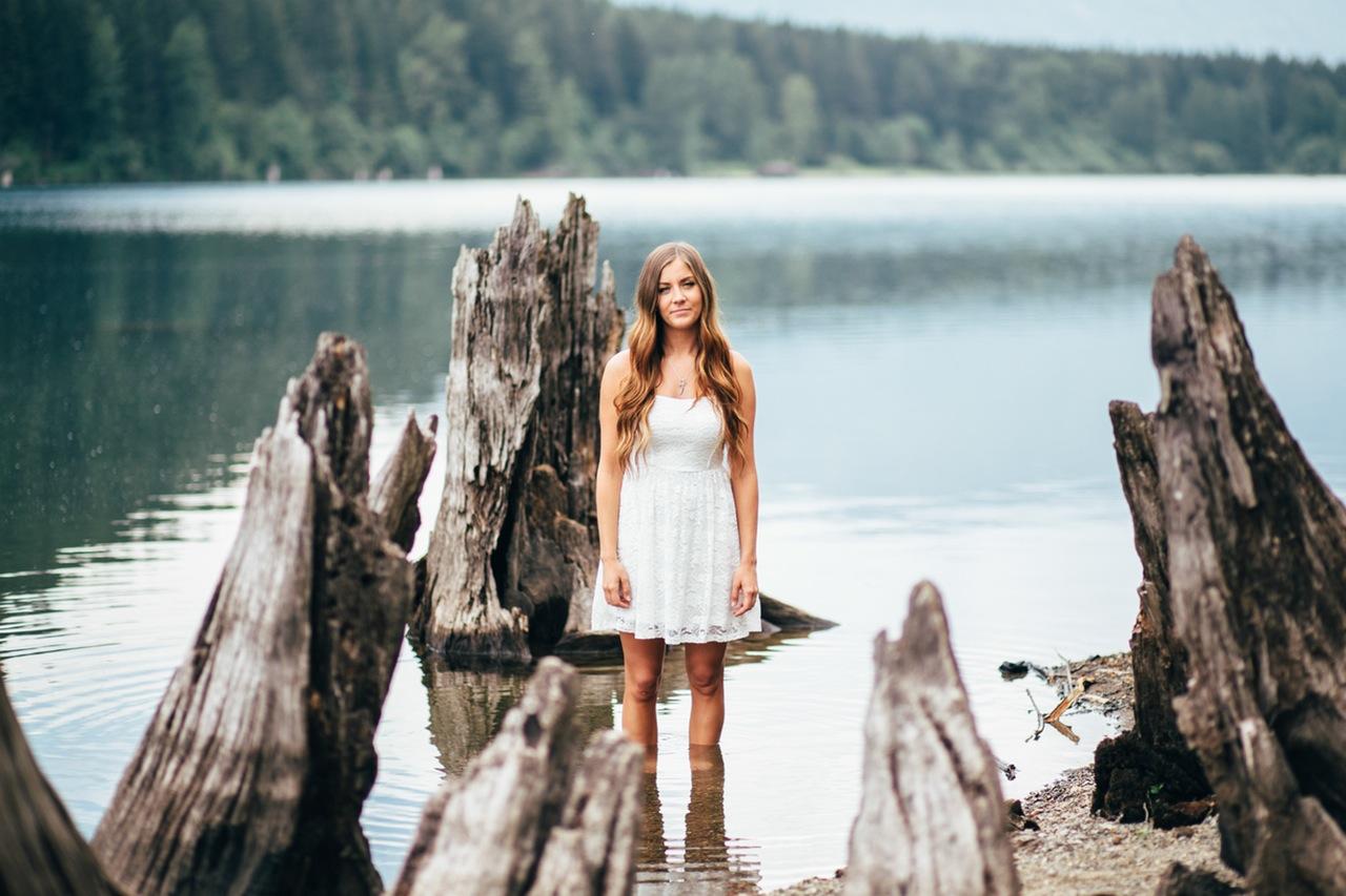 flash portrait photography ocean girl