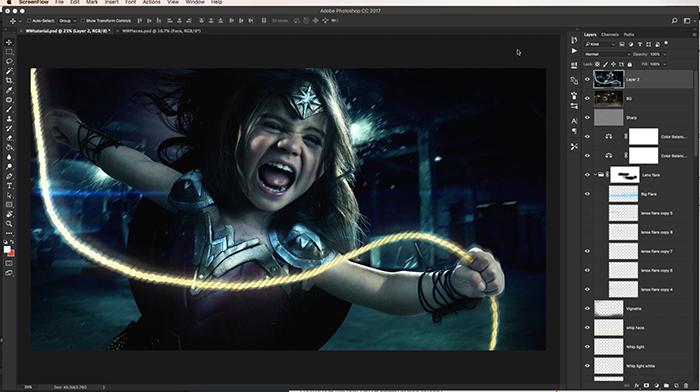 Photoshop Compositing Tutorial - Josh rossi wonder woman